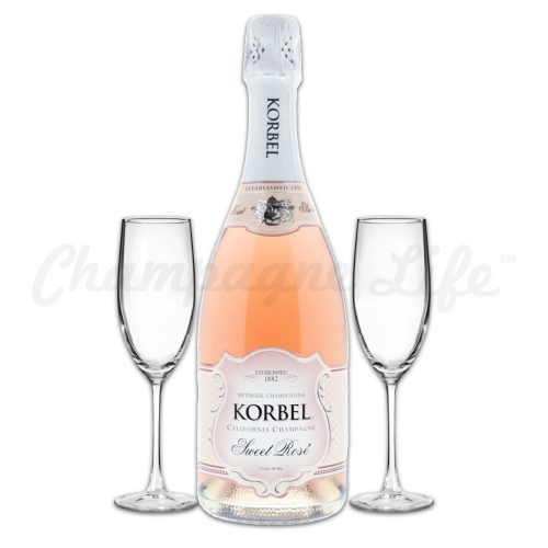 Champagne Life - Korbel Sweet Rose Toast Set