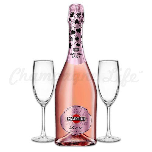 Champagne Life - Martini & Rossi Rose Toast Set