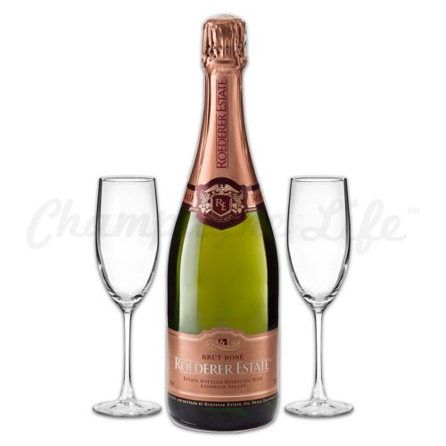 Champagne Life - Roderer Estate Brut Rose Toast Set