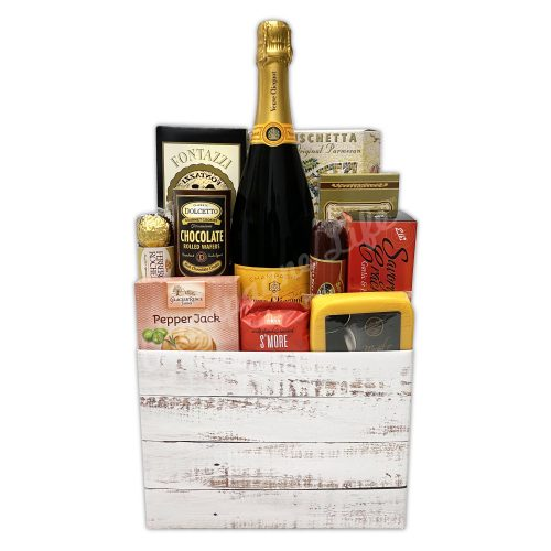 Champagne Life - Champagne and Gourmet Snacks Gift Basket
