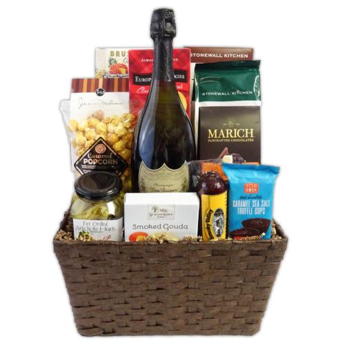 Gourmet Dom Perignon Gift Basket