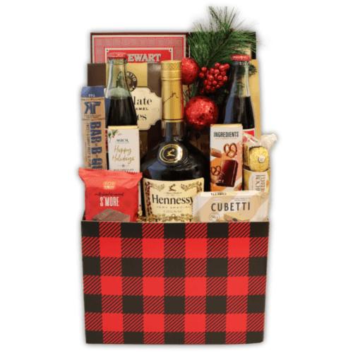 Holiday Hennessy Gift Basket