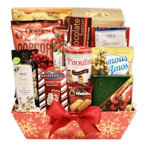 Mistletoe Munchies Gift Basket