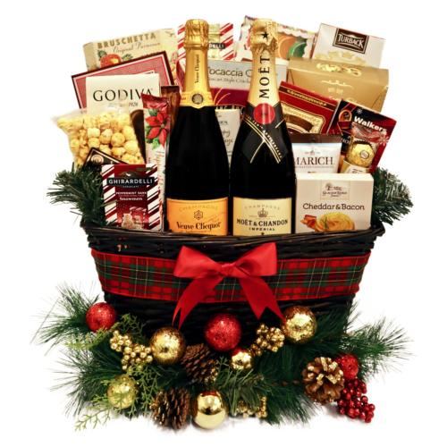 Veuve & Moet Holiday Gift Basket