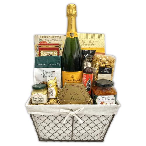 Deluxe Veuve Clicquot Gift Basket