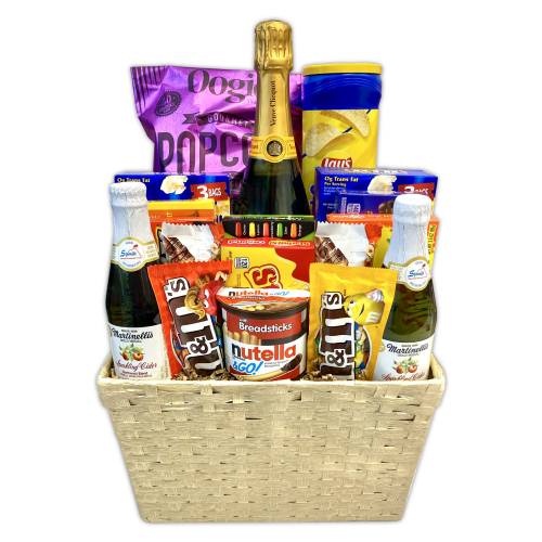 Veuve Movie Night Basket