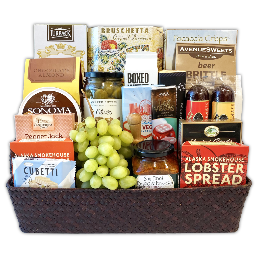 Champagne Life - Custom Snacks Gift Basket