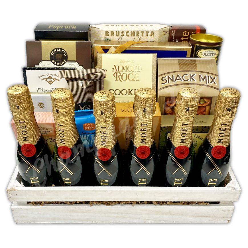 ChampagneLife-CustomMoet-GiftBasket