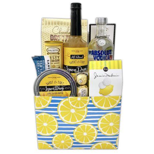 Champagne Life - Vodka Lemon Drop Gift Basket