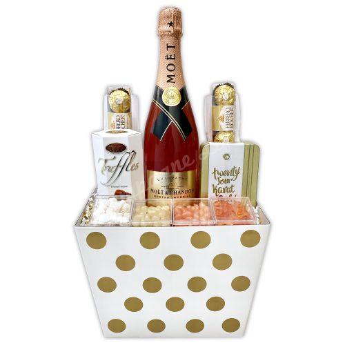Champagne Life - Moet Imperial Nectar Rose Gift Basket