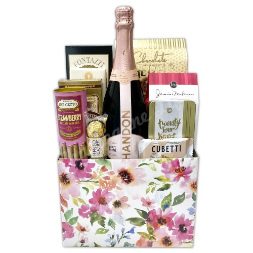 Champagne Life - Rose & Sweets Gift Basket