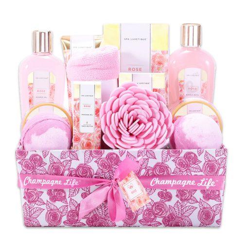 Champagne Life - Royal Rose Spa Gift Basket
