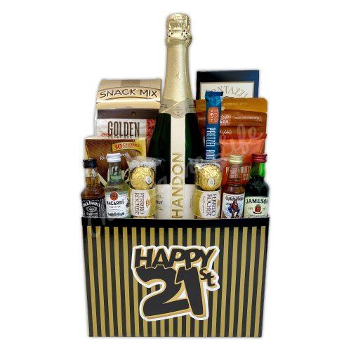 Champagne Life - 21st Birthday Celebration Gift Basket