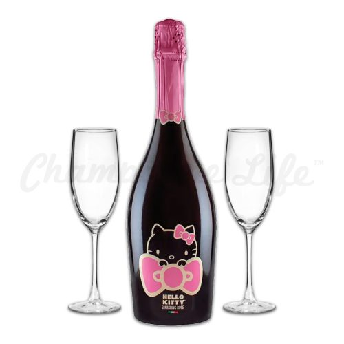 Champagne Life - Hello Kitty Sparkling Rose Toast Set