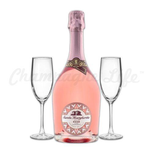 Champagne Life - Santa Margherita Brut Rose Toast Set